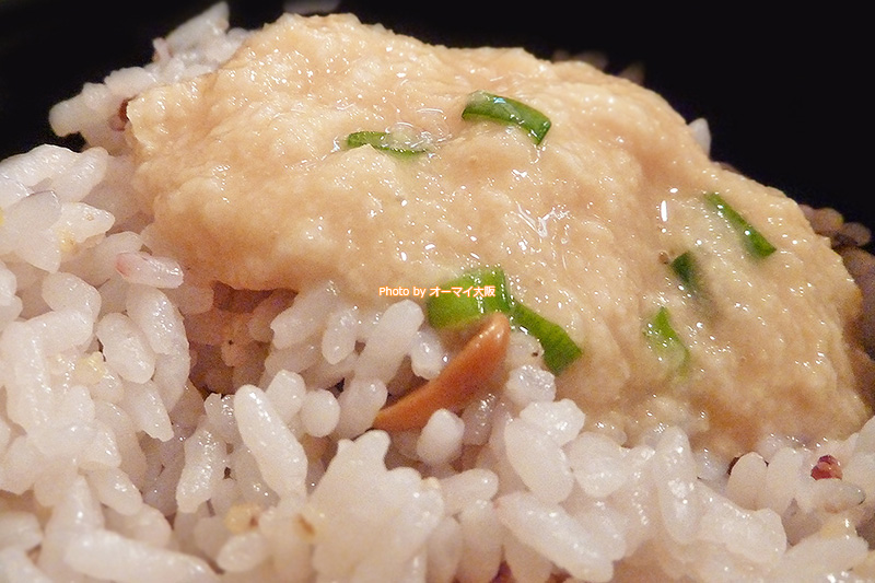とろろ玄米ごはんだけでも十分なごちそうになる「とんかつ 花」。玄米ごはんがおいしいです。