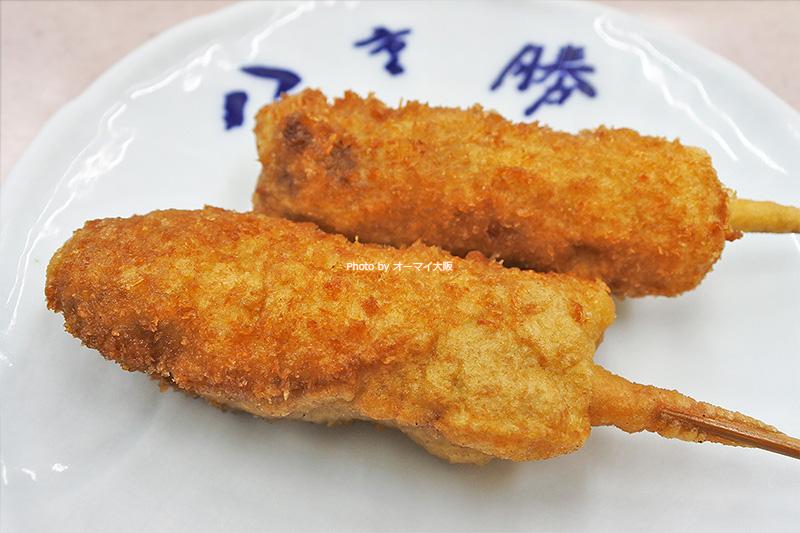 牛肉の串カツはいつもまとめて注文します。