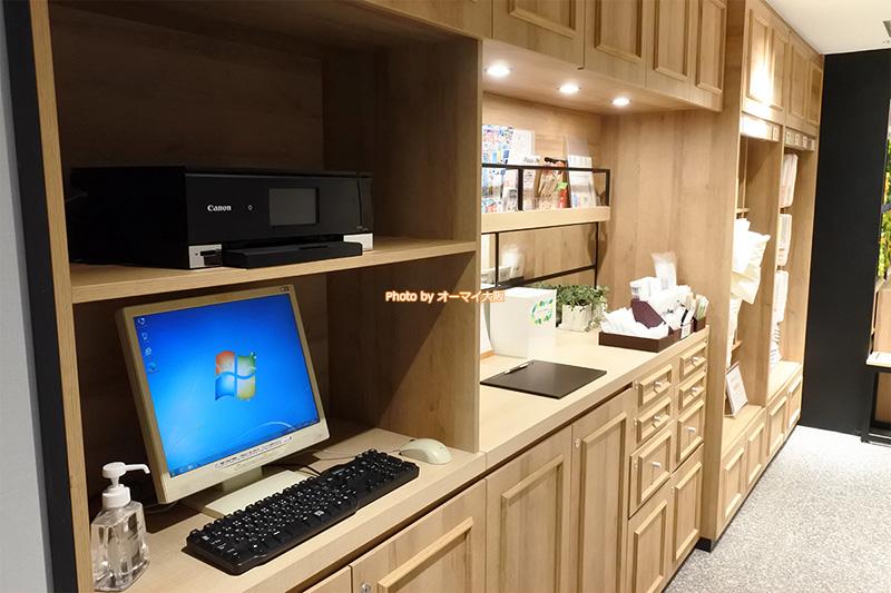 ビジネスホテル「スーパーホテル梅田肥後橋」のアメニティのコーナーです。