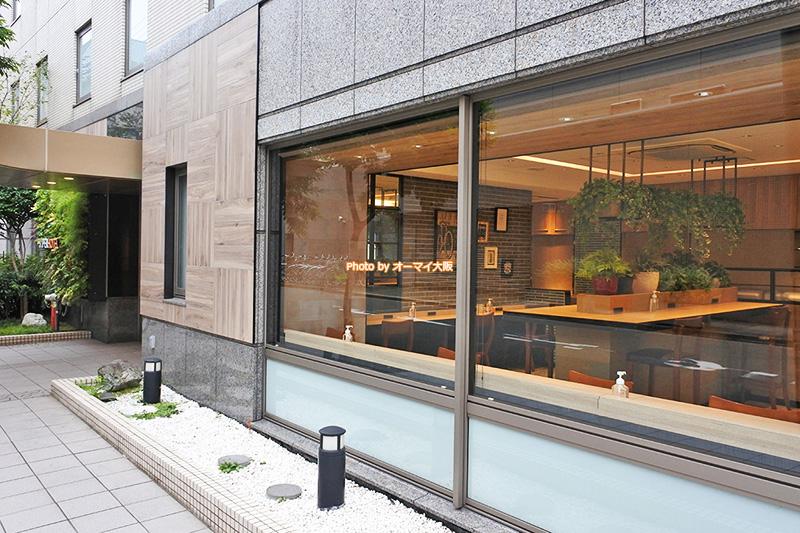 ビジネスホテル「スーパーホテル梅田肥後橋」のレストランの外観です。