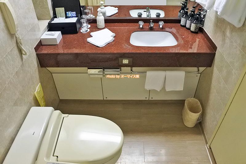 スーペリアフロアのダブルルームは洗面も広くて使いやすいです。