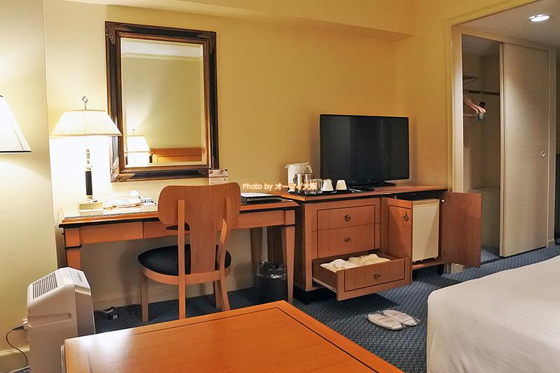 スーペリアフロアのダブルルームは客室アメニティも充実しています。