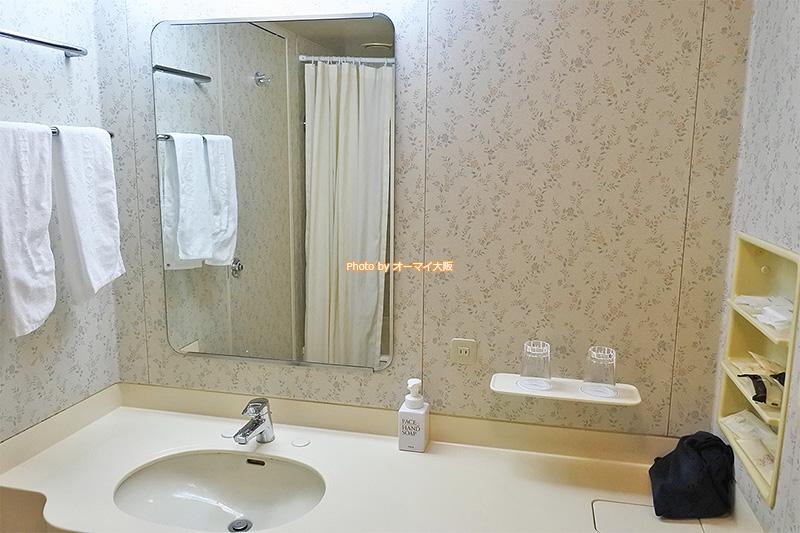 広い洗面は使い勝手がよかったです。