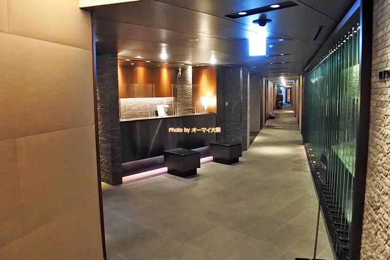 最上階の27階にある「ホテルグランヴィア大阪」のグランヴィアフロアです。