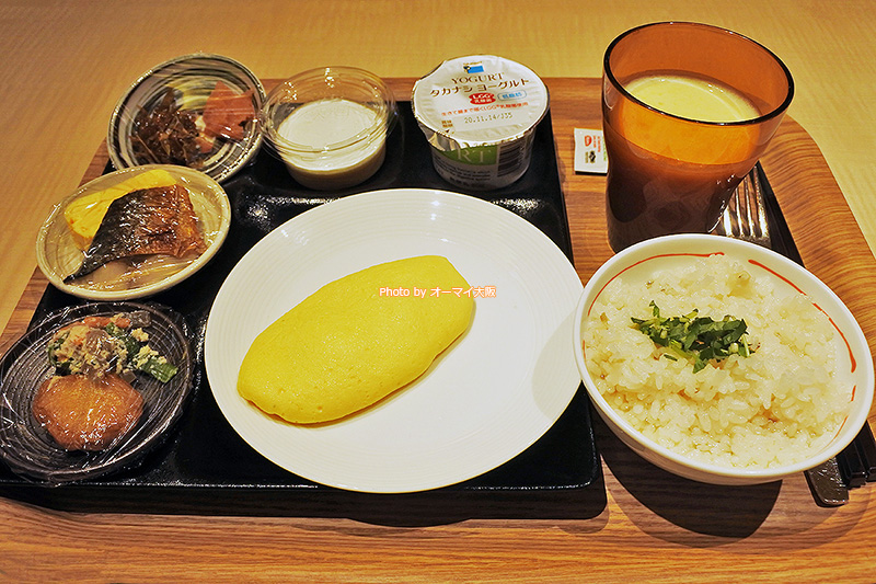 和食メニューも充実している「ホテルユニバーサルポートヴィータ」の朝食ブッフェです。