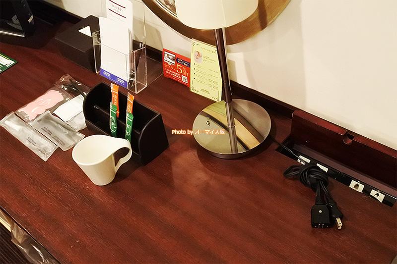 客室タイプ「スタンダードツインルーム」は電気コンセントの数が多くて助かりました。