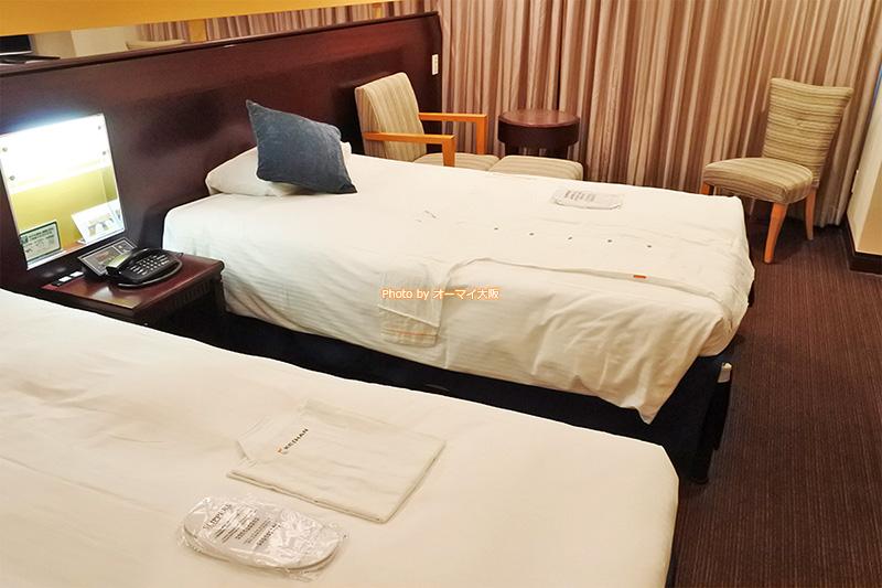 新型コロナウイルス対策がしっかりしている「ホテル京阪ユニバーサルタワー」の客室です。