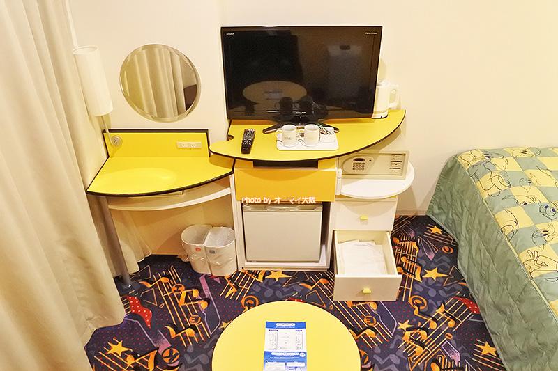 USJで思いきり遊びたい観光客におすすめの「ホテル近鉄ユニバーサルシティ」の「カジュアルダブル」です。