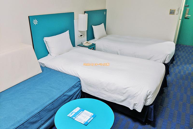 家族連れや友人と一緒にUSJを楽しむなら、安く宿泊できる「カジュアルツイン」で決まりです。