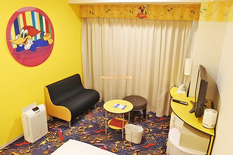USJオフィシャルホテル「ホテル近鉄ユニバーサルシティ」の「カジュアルダブル」はカップルやファミリーにおすすめの客室です。