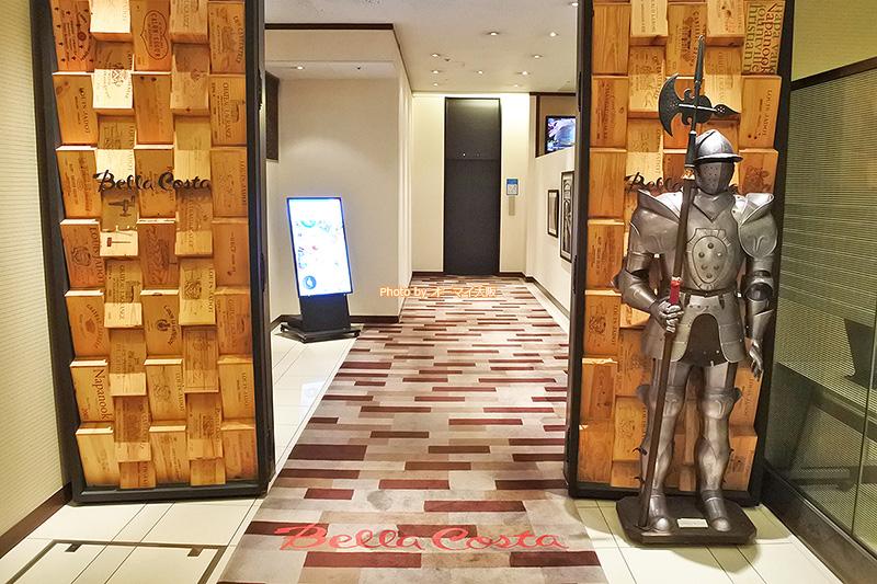 イタリアンレストラン「ベラコスタ」は「リーガロイヤルホテル大阪」の7階にあります。