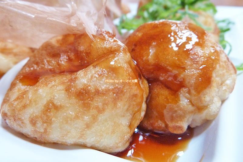 たこ焼き「わなか 千日前本店」テリヤキたこ焼きは甘いソースが決め手です。