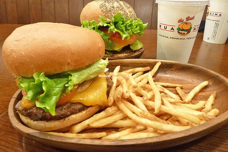 記念すべき「クアアイナ なんばパークス店」の初ランチで注文した厚切りチェダーチーズバーガーのランチセットです。