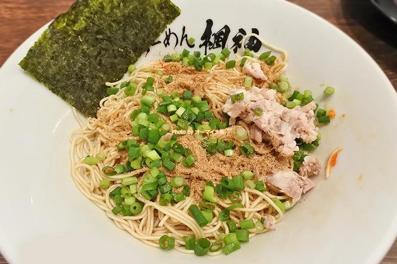 ラーメン「博多長浜らーめん 難波楓神」の「和え玉」は200円です。