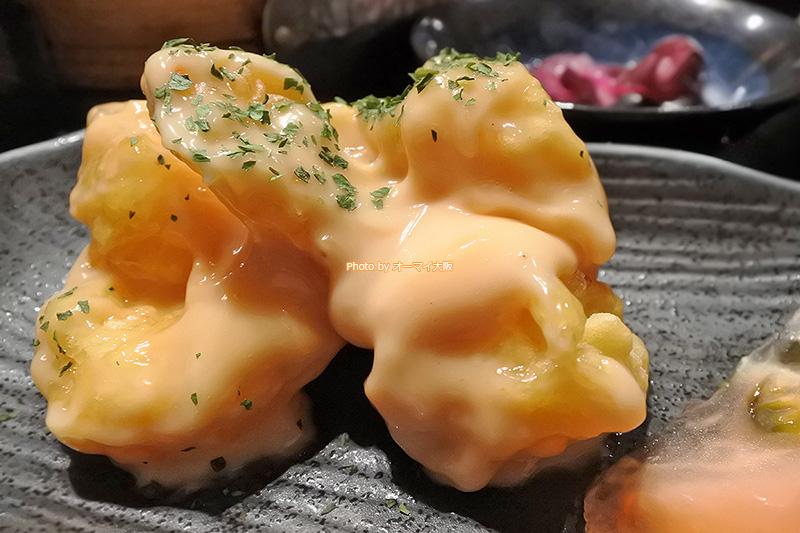 中華居酒屋「黒門 轍」ではじめて食べるエビマヨです。