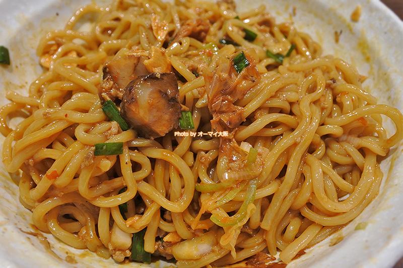 男の台湾まぜ麺は食べる前にしっかりと混ぜましょう。